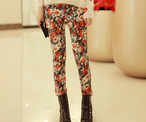 cool, fashion, and flowers image