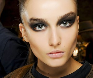 model, makeup, and eyes image