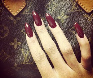 nails, Louis Vuitton, and red image