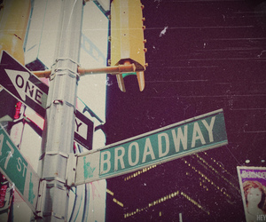 broadway, city, and street image