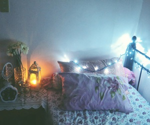 bedroom, flowers, and floral image