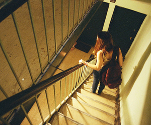 girl, stairs, and hipster image
