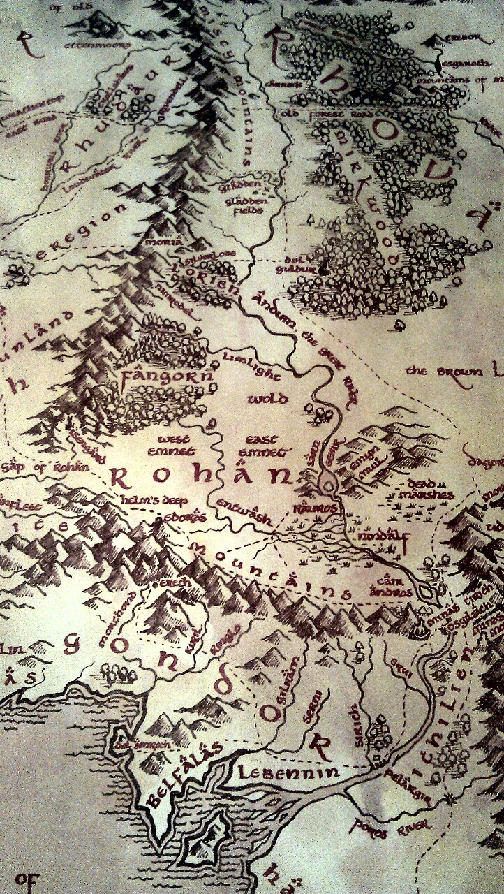 Lord Of The Rings Medieval Map On We Heart It