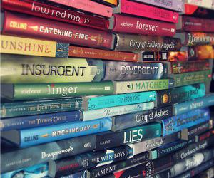 books, the hunger games, and divergent image