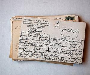 postcard, vintage, and letters image