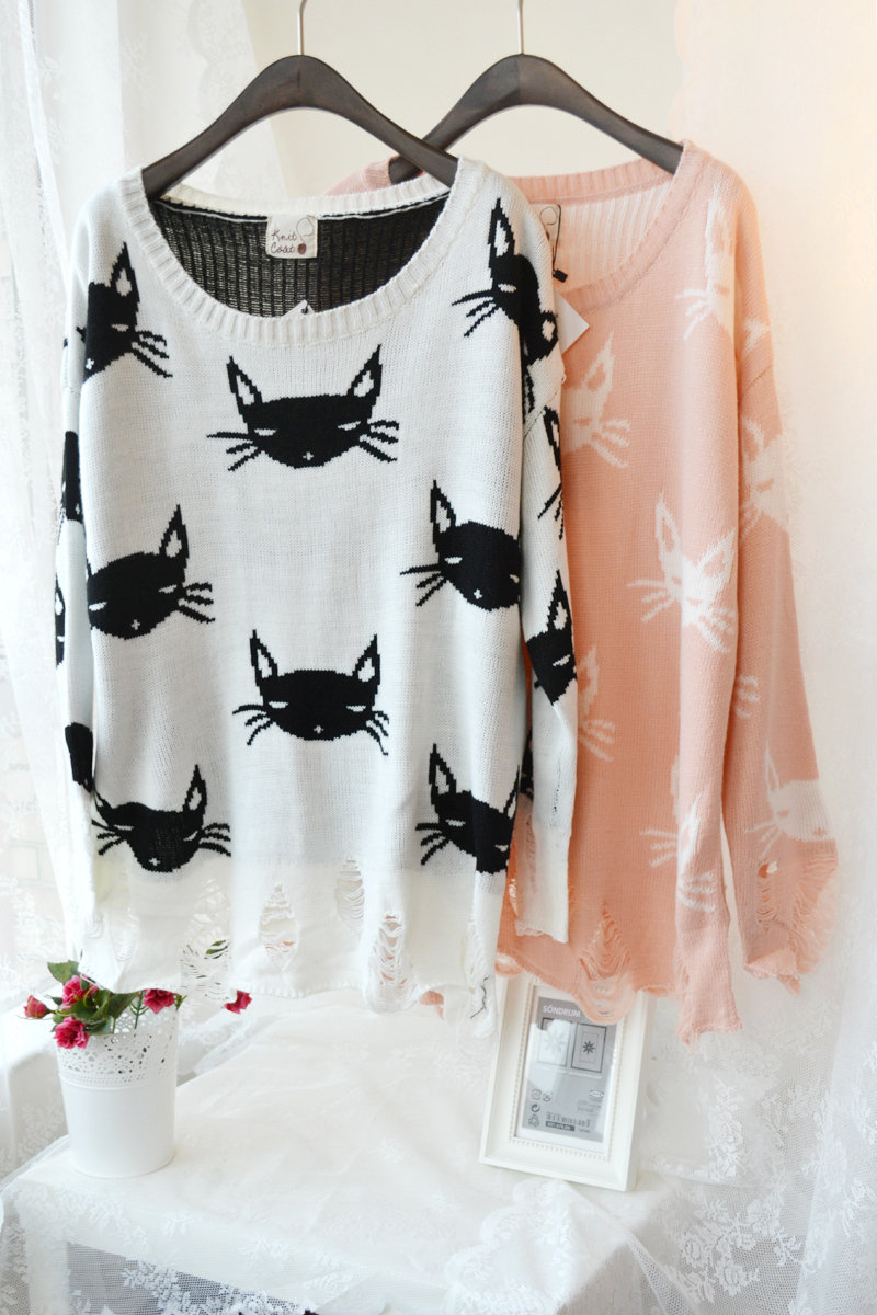 Cat Sweater Shared By Maidsama On We Heart It