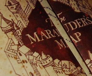harry potter, map, and the marauders map image