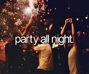 party, night, and fun image