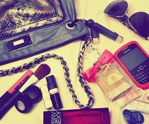 makeup, bag, and blackberry image
