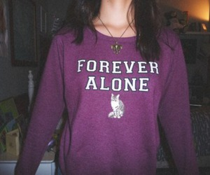 forever alone, girl, and alone image