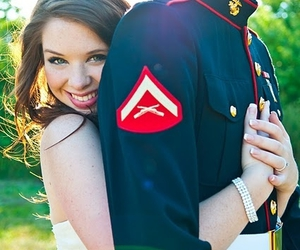 love, couple, and USMC image