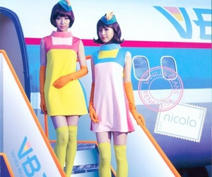 aircraft, flight attendent, and japan image