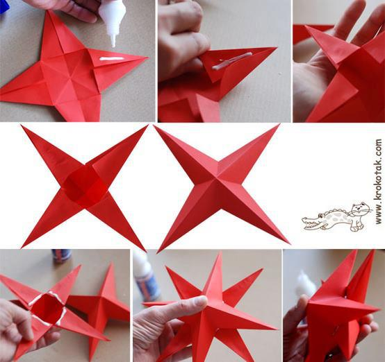 Instructions to Make Origami Star   522x554