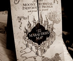 harry potter, map, and movie image