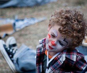 adorable, child, and clown image