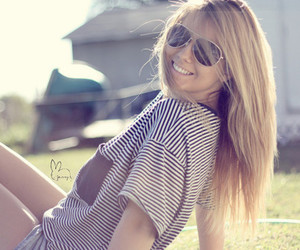 fashion, girl, and stripe image