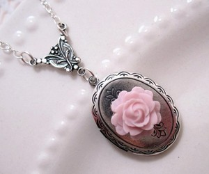 flower, jewelry, and pink image