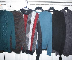 cardigan, sweatshirt, and thrift image