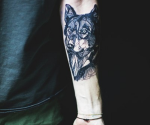 dog, tattoo, and ink image