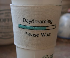 coffee, daydreaming, and cup image