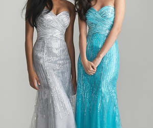 dress, evening dress, and evening gown image