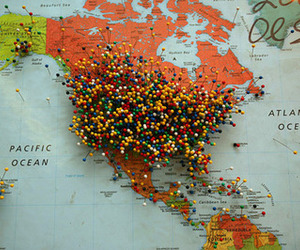 map, travel, and america image