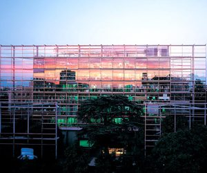architecture, design, and glass house image