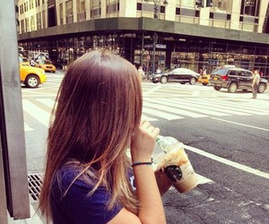 beauty, starbucks, and black&white image
