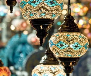 lamp, blue, and light image