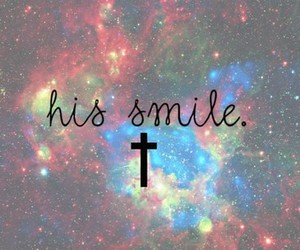 smile, galaxy, and His image