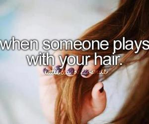 hair, quotes, and play image