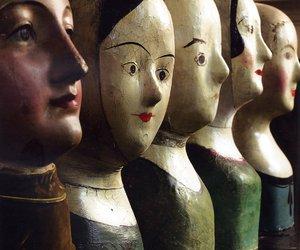 faces and papier mache image