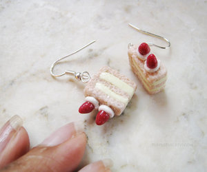 cake, earrings, and etsy image