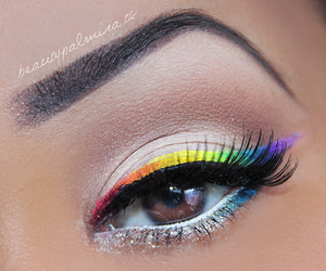 colorful and eyebrows image