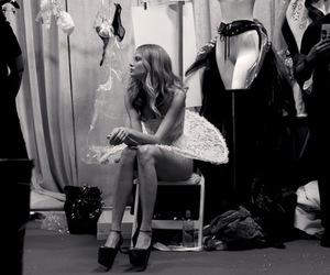 model, black and white, and Victoria's Secret image