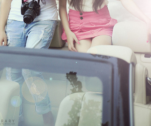 girl, car, and couple image
