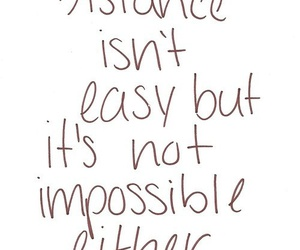 distance, impossible, and quote image