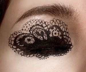 eye, lace, and makeup image