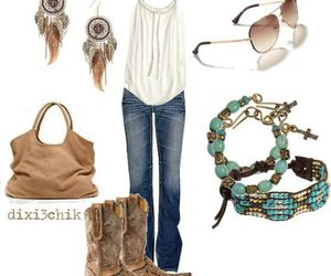 boots, Braclets, and earrings image
