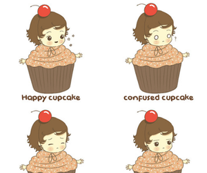 one direction, Harry Styles, and cupcake image