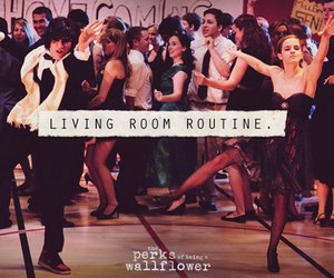 emma watson, dance, and living room routine image
