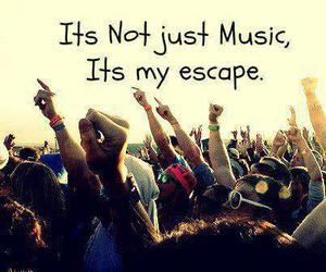 music, escape, and life image