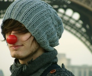boy, piercing, and clown image
