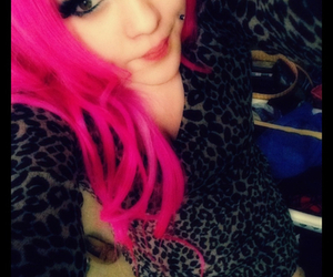 beautiful, colored hair, and hot pink hair image