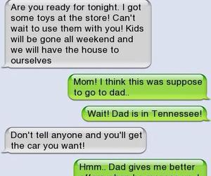 dad, funny, and mom image