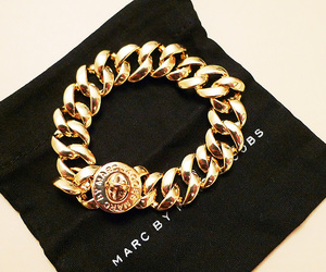 gold, marc jacobs, and bracelet image