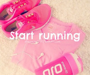 pink, running, and nike image