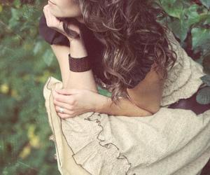 brown, girl, and vintage image
