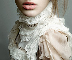 lace, lips, and vintage image
