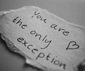 only, you, and exception image